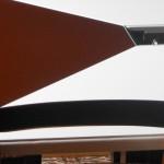 Baloss - Tavolo in legno, metallo e vetro smontabile